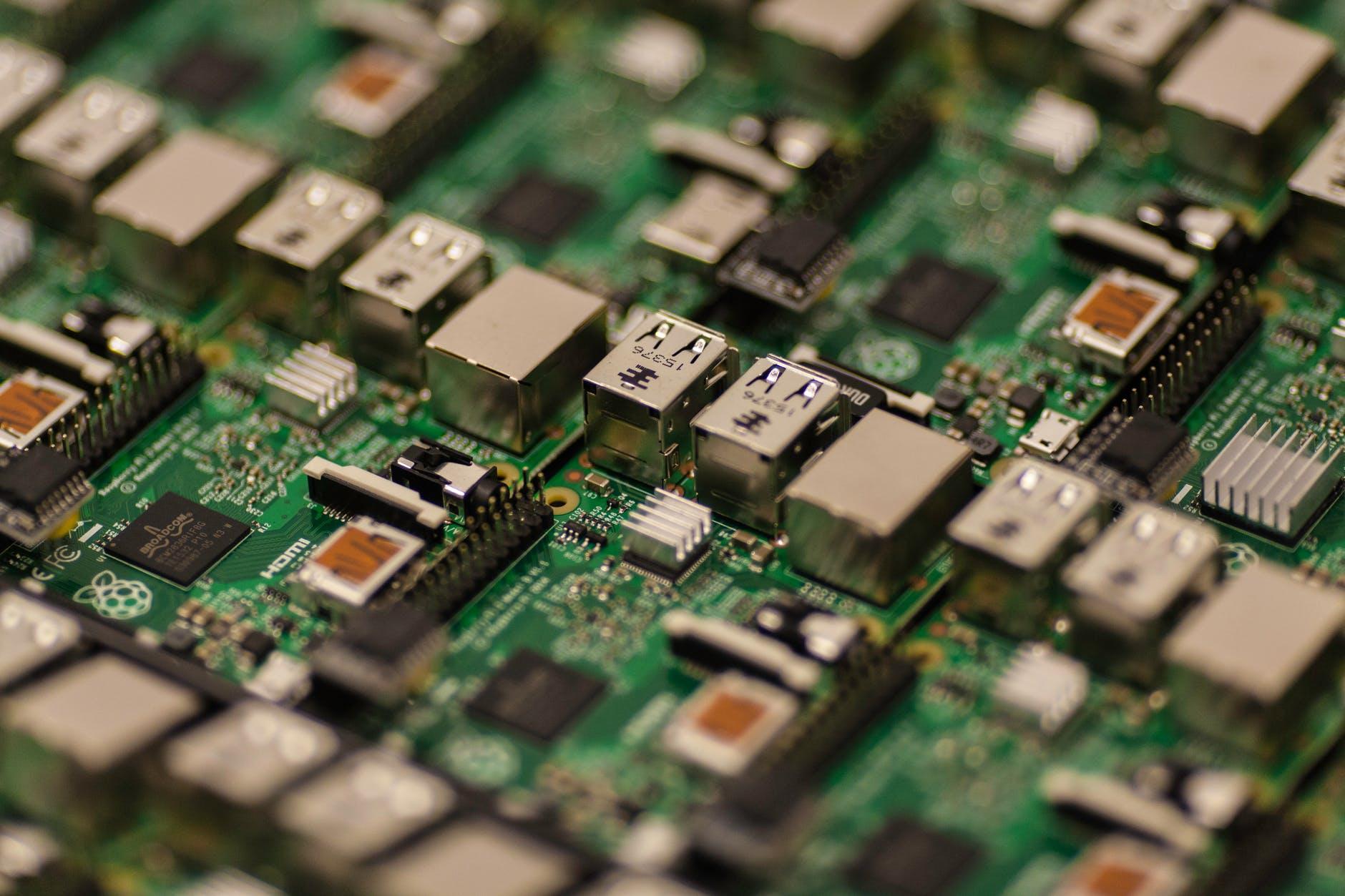 usb technology green microchip