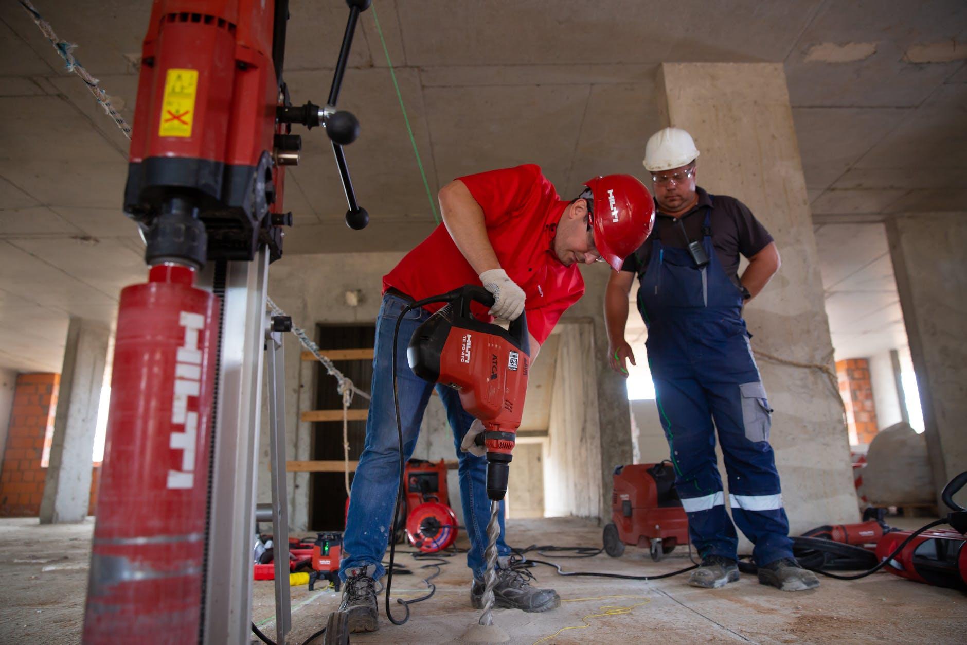 a man restoring the buliding